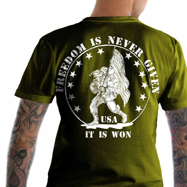 Freedom is never given, it is won.  Military T-Shirt.