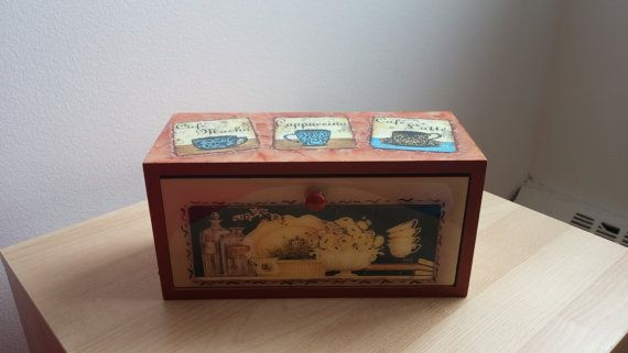 tea box/container by CraftsElisa on Etsy