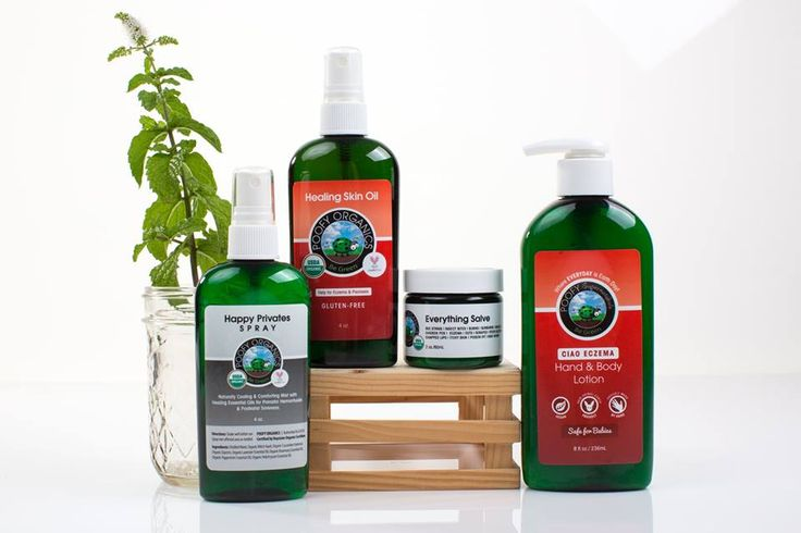 Everything salve for cuts, burns, scrapes, rashes, etc. Ciao Eczema, healing oil with neem in it, and happy privates!