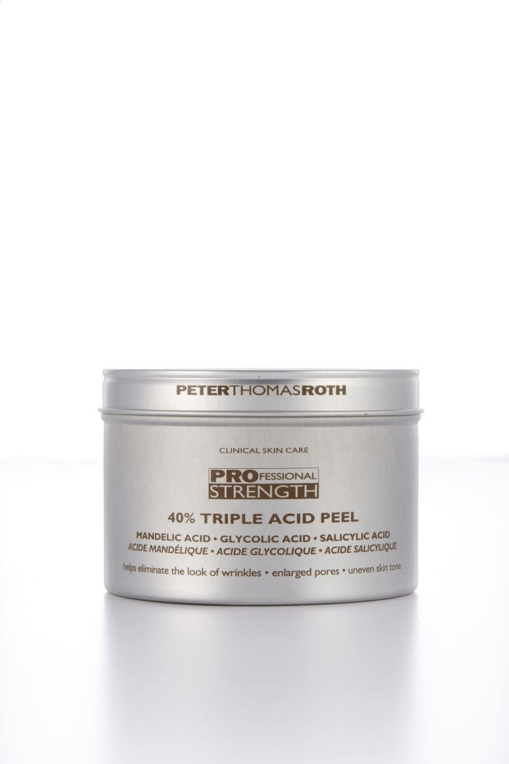 This power peel mimics in-office versions with high levels of glycolic, salicylic, and mandelic acids. Lab Notes After only two uses, testers' skin showed reduced spots, minimized pores, and improved texture, with zero irritation. Peter Thomas Roth Professional Strength 40% Triple Acid Peel, $88, Sephora  - GoodHousekeeping.com