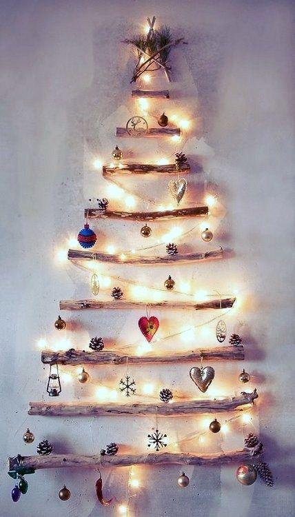 kerstboom van sprokkelhout