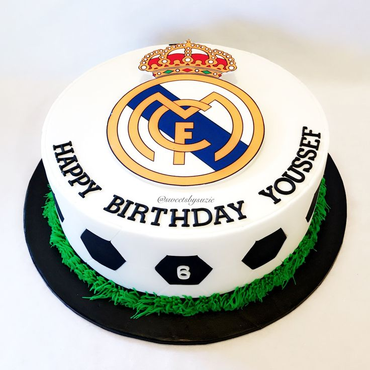 Real Madrid Soccer Birthday Cake made by SweetsBySuzie in Melbourne