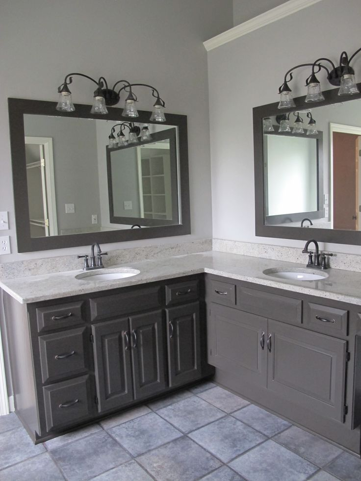 This Cool Gray Is In A Bathroom I Painted The Cabinets