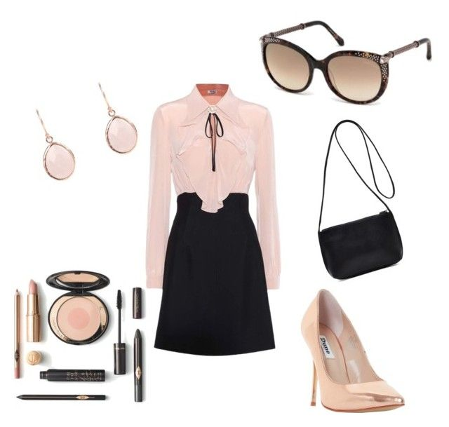 Pink passion by lenshop-gr on Polyvore featuring Miu Miu, Dune and sunglasses Roberto Cavalli http://lenshop.gr/manufacturers/9418-roberto-cavalli/sunglasses