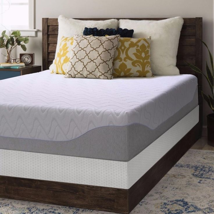 Crown Comfort Gel 11 Inch Full Size Box Spring And Memory Foam Mattress Set