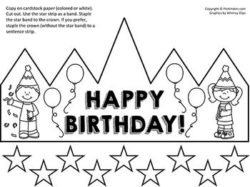 happy birthday crown template 33 best images about pre k birthday theme on pinterest