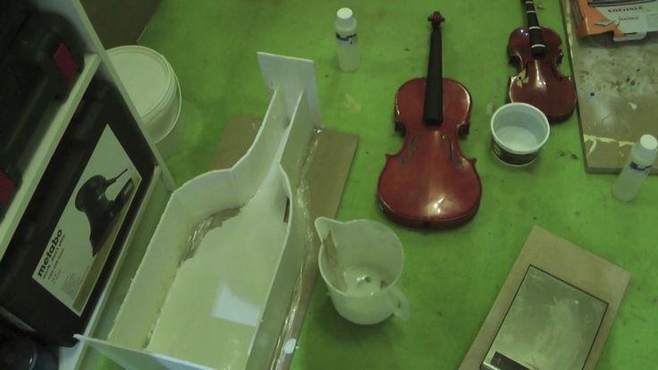 Sculture i Violini Danzanti Arte Moderna 1 Parte Creare Lo Stampo In Sil...