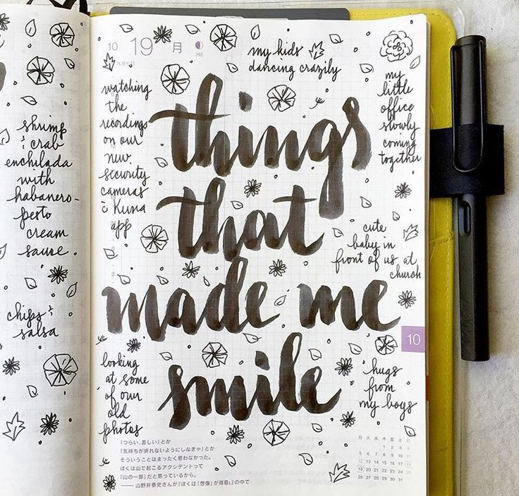 Record the things that made me smile...sort of like 1000 gifts