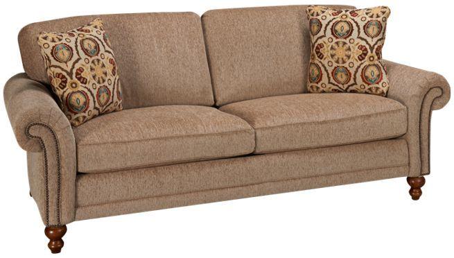 Craftsmaster trad nailhea sofa jordan39s furniture for Sectional sofas jordans