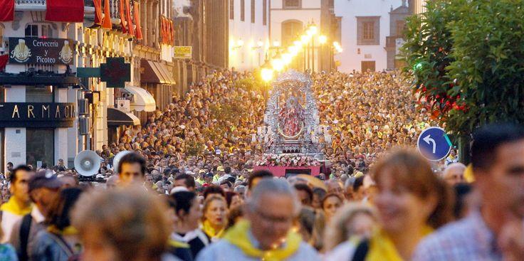 The great pilgrimage festival Romería del Pino in Teror on Gran Canaria.