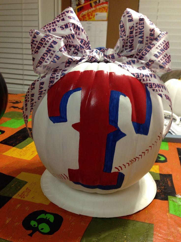 Texas Ranger pumpkin!