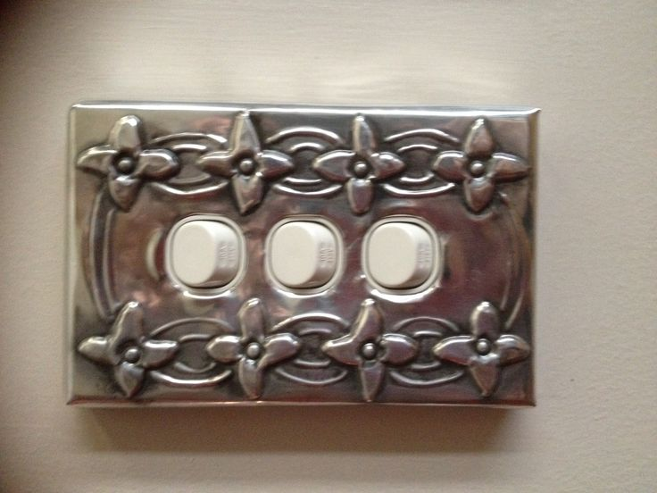 Flower pattern pewter light cover