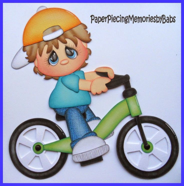 Bicycle Boy created PAPER PIECING MEMORIES BY BABS for scrapbook pages. Pattern by Little Scraps of Heaven Designs