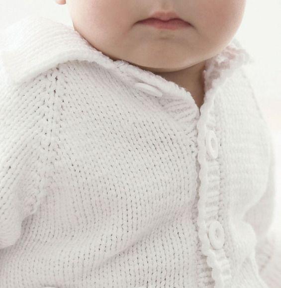 Mejores 158 imágenes de gilets BB en Pinterest | Tejido para bebé ...