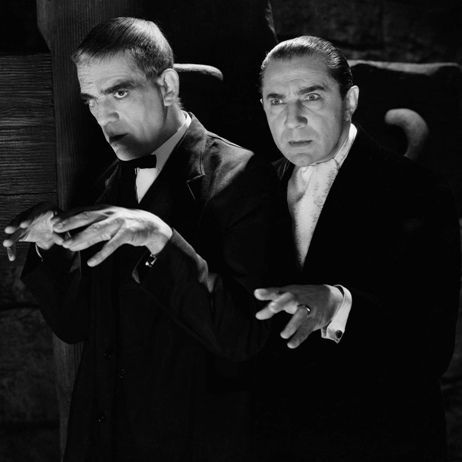 Boris Karloff and Bela Lugosi... better actors than they were ever given credit for, and always delivering what their fans came to the theater for... pleasant chills.    http://en.wikipedia.org/wiki/Boris_Karloff    http://en.wikipedia.org/wiki/Bela_Lugosi