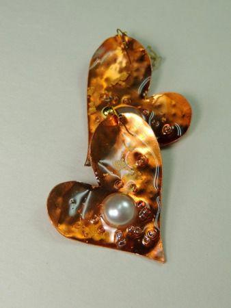 χειροποίητα σκουλαρίκια από χαλκό και ορείχαλκο