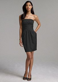 chic simple strapless black dress