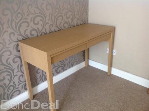 Oak effect desk