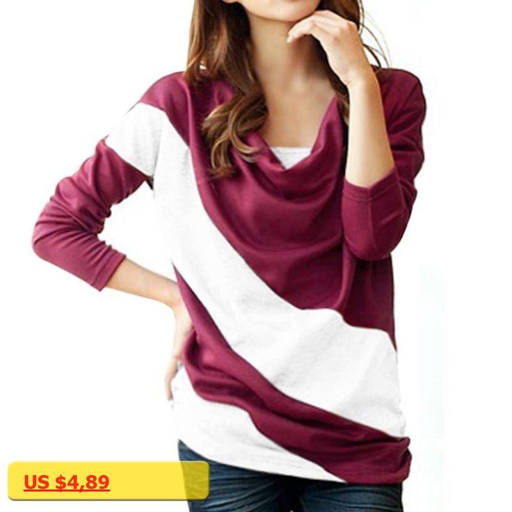 Hot New Autumn Women Long Sleeve Color Patchwork Ruffled Collar Hoodies Sweatshirt Office Ladies Slim Shirt Tops Streetwear