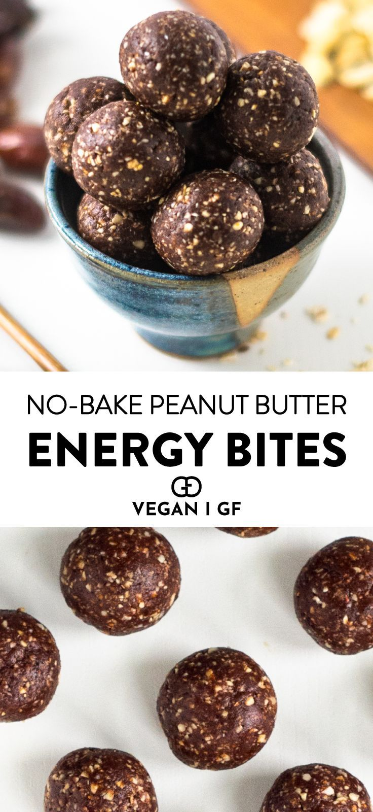 No Bake Peanut Butter Balls 5 Ingredient Recipe Peanut Butter Energy Bites Healthy Vegan Snacks Peanut Butter Balls Recipe