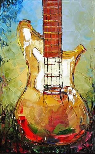 Guitar - painting on canvas