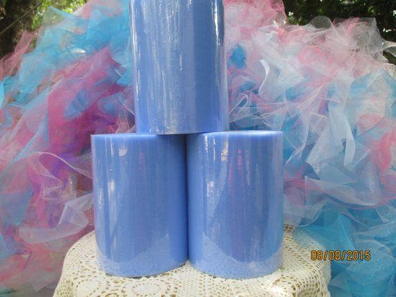 Rouleau de Tulle bleu moyen 1 6 pouces larges 100 Yards Long ( = 40 cm de large )