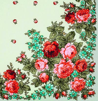 Характерный и узнаваемый узор павловопосадских платков – это букеты и гирлянды из садовых и полевых цветов