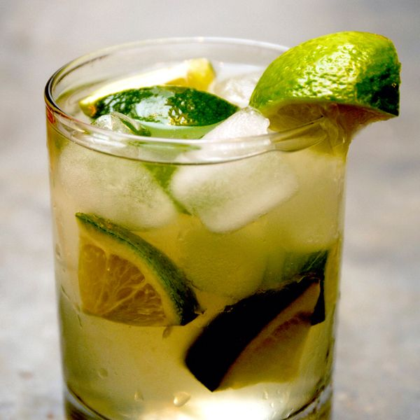 The South American cocktail endorsed by Demi Moore and Madonna. 4 Lime wedges 2 tablespoons Sugar Cachaça Vita Coco Tangerine Glass: Old Fashioned