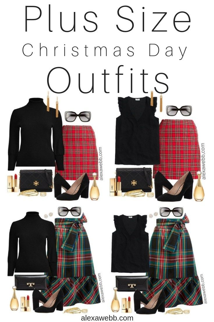 plus size plaid christmas outfits plus size holiday outfit ideas plus size fashion for