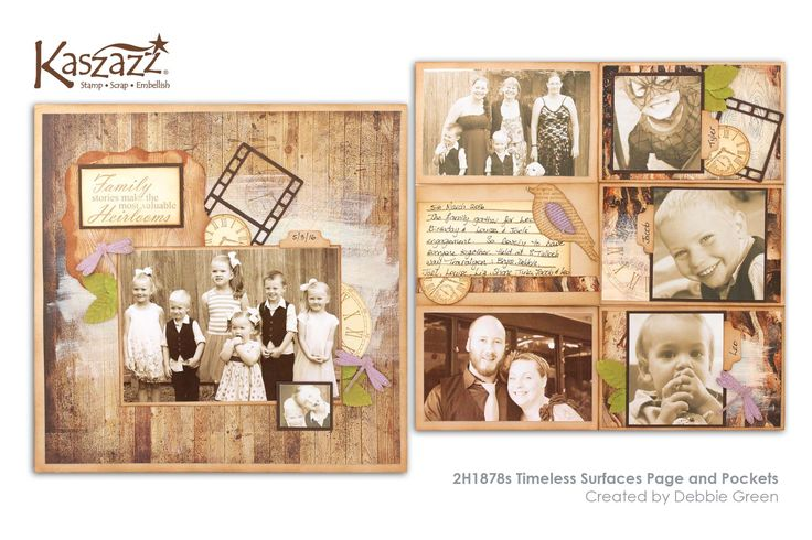 This project will show you how to create a timeless scrapbooking layout using the On The Surface SB Papers as well as learning to imprint into Texture Paste.