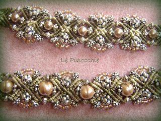 Le Pinocchie: Bracciale Macramè e perle rosa
