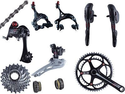 Build Kits and Gruppos 109120: 2014 Campagnolo Centaur Black And Red Alloy Group Set 9 Pcs New BUY IT NOW ONLY: $689.0