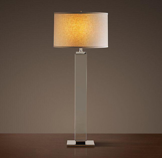 Square Column Crystal Buffet Lamp