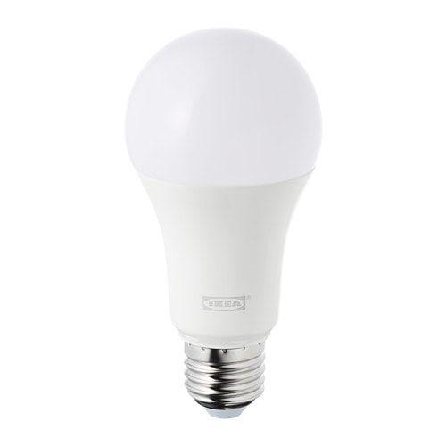 Tradfri Led Bulb E27 980 Lumen Wireless Dimmable White Spectrum Opal White In 2019 Ikea Stuff Led Panel Light Lighting Bulb