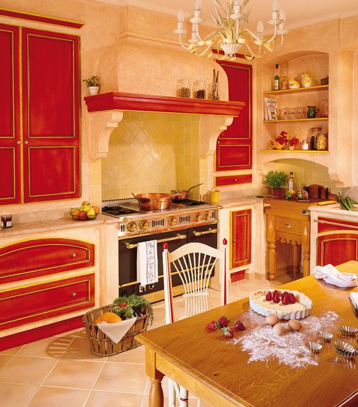 Yellow & Red Cabinetry