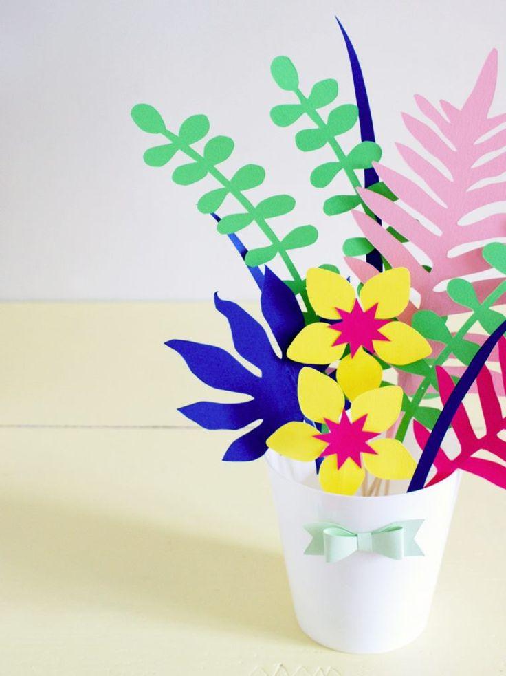 R alisez un diy tr s color un bouquet de fleurs en papier simple cr er - Creer un bouquet de fleur ...