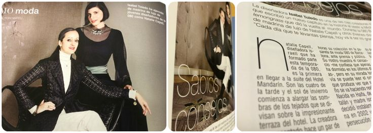 With the wonderful Isabel Toledo.           Thank you Telva Magazine for this touching present...  (TELVA n° 901- May 2014)