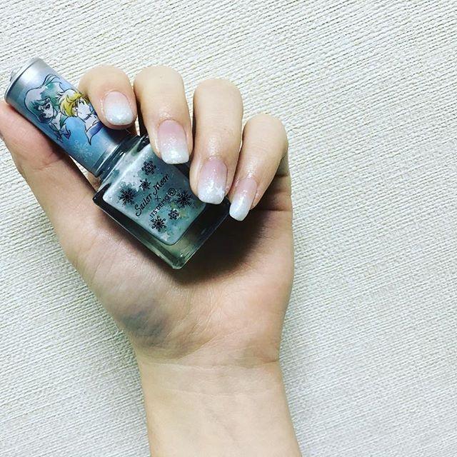 New爪 #セルフネイル #グラデーション #セーラームーン #ウラヌス #ネプチューン