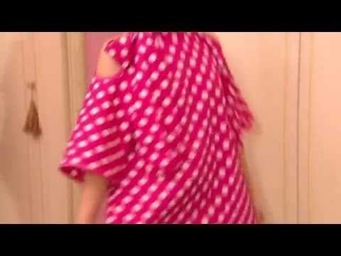 Яркая, оригинальная и веселая блузка из ситца - YouTube