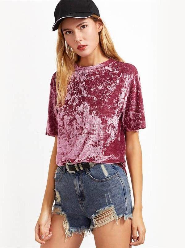 Camiseta de Veludo - Compre Online | DMS Boutique