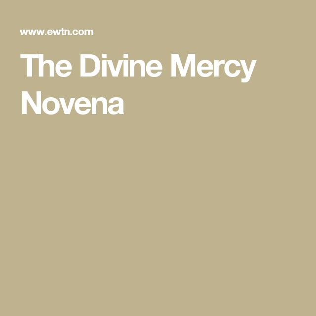 The Divine Mercy Novena - Jesus asked that the Feast of the Divine Mercy be preceded by a Novena to the Divine Mercy which would begin on Good Friday.  He gave St. Faustina an intention to pray for on each day of the Novena, saving for the last day the most difficult intention of all, the lukewarm and indifferent