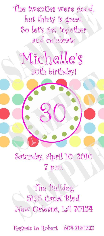 30th Birthday Party Invitation by InvitasticInvites on Etsy, $10.00