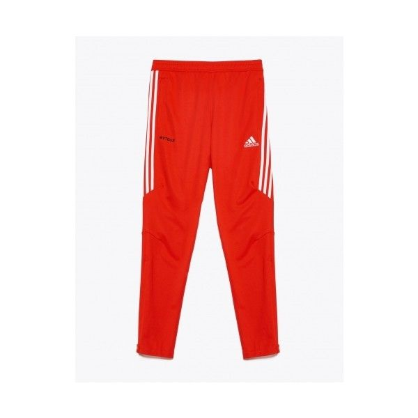 Gosha Rubchinskiy Adidas Track Sweatpants Red ❤ liked on Polyvore featuring activewear, activewear pants, zipper sweatpants, red sweatpants, zippered sweat pants, drawstring sweat pants and red sweat pants