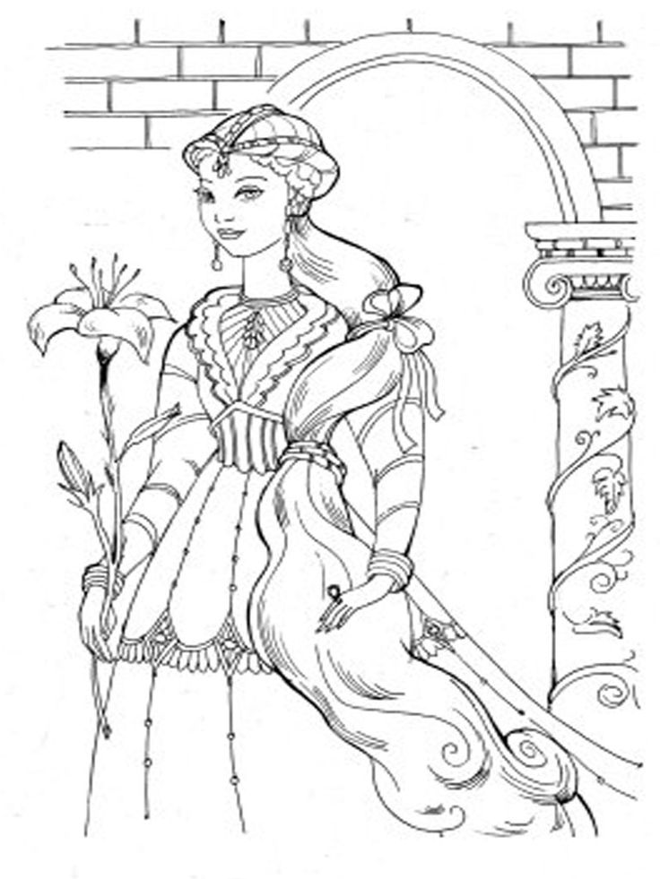 185 Best Barbie Coloring Pages Images On Pinterest