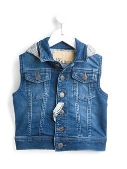 tiger denim gilet