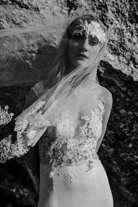 Nora Sarman - Pinewood Weddings Dress Alina, headpiece Alina, veil Alina