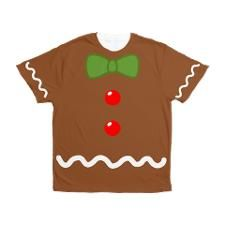 Gingerbread Man Costume Men's All Over Print T-Shi