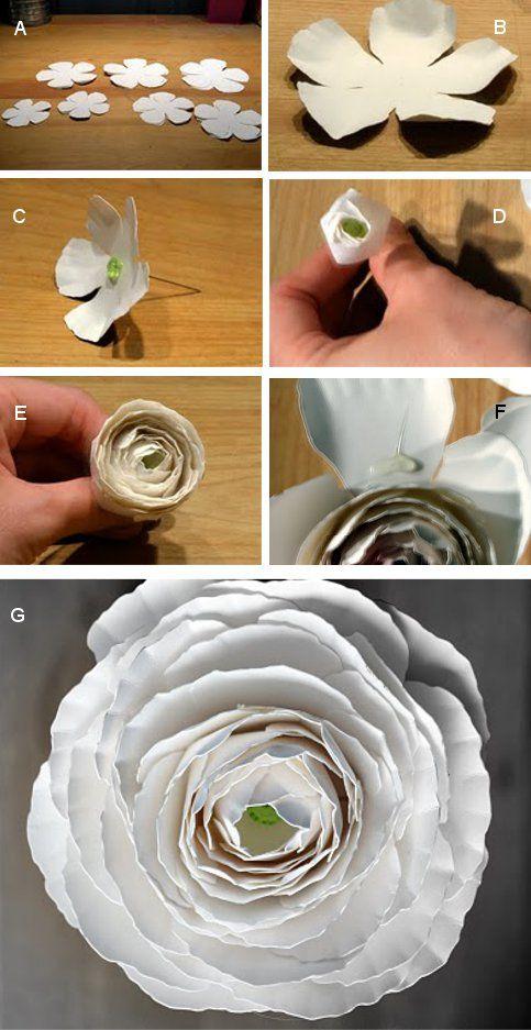 Mach's selbst: Ranunkeln aus Papier