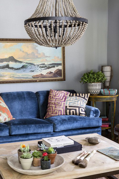 I just love this colour blue, and the richness of the fabric