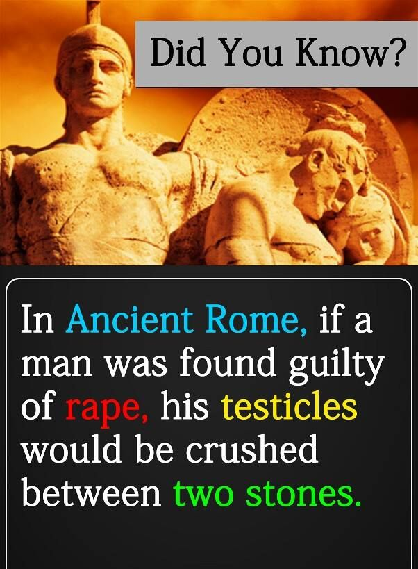 This is what the roman government did to rapists